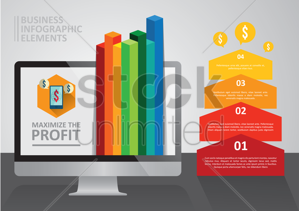 Free business infographic elements vector graphic