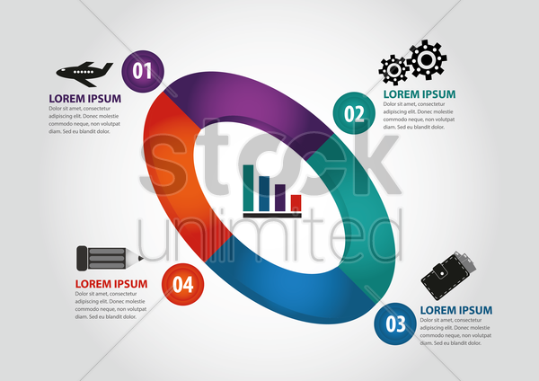 business infographic vector graphic