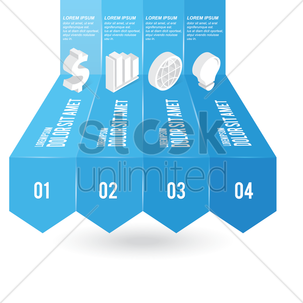 Free business infographic vector graphic