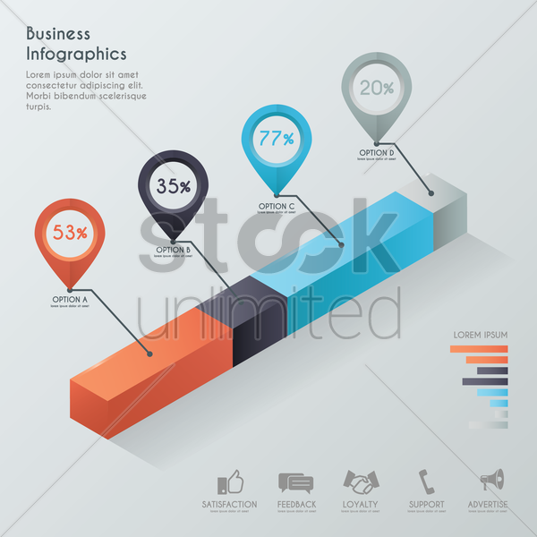 business infographics vector graphic
