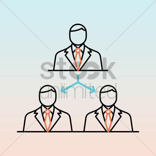 business leadership concept vector graphic