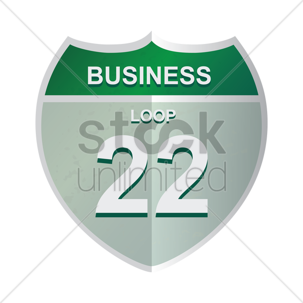 business loop 22 sign vector graphic