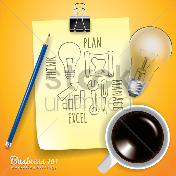 business marketing strategy vector graphic