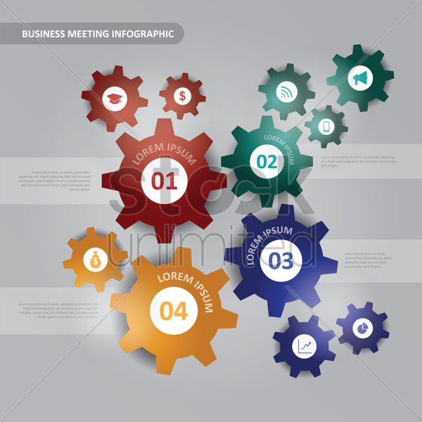 business meeting infographic vector graphic