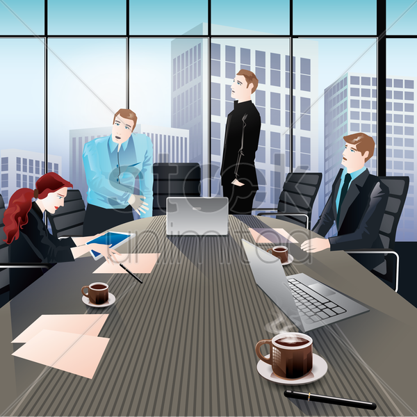 Free business meeting vector graphic