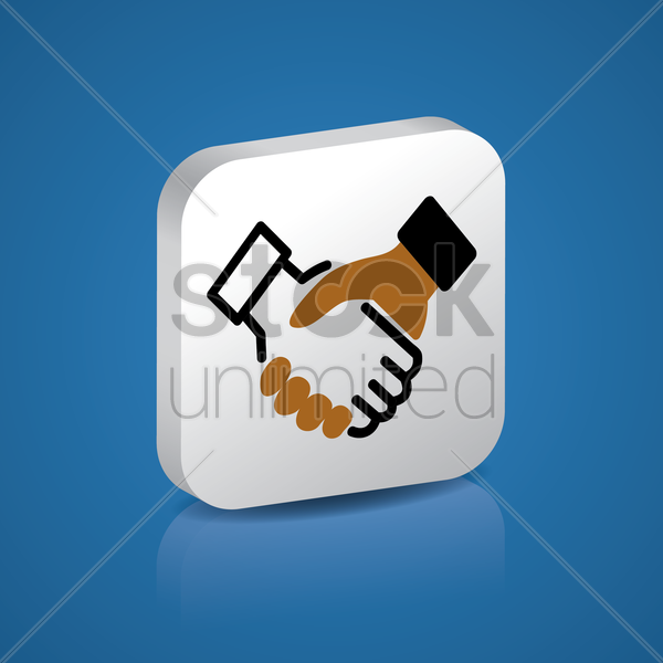 business partners vector graphic