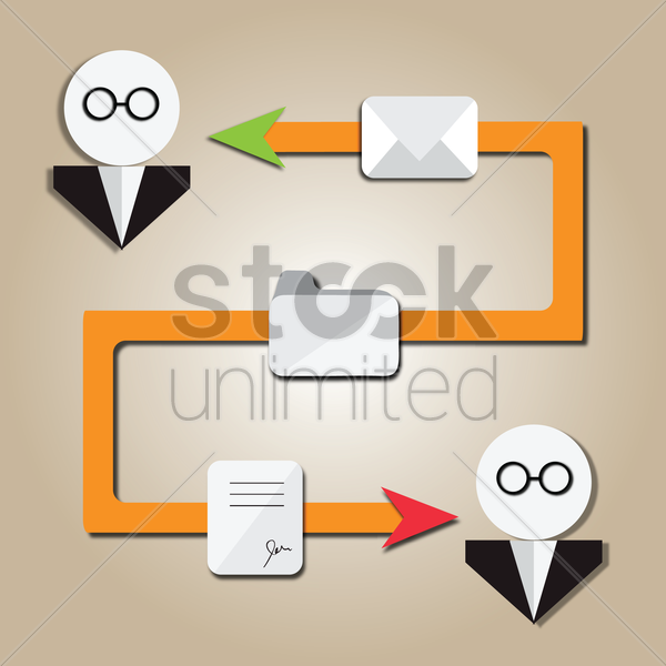 business people connecting through the net vector graphic