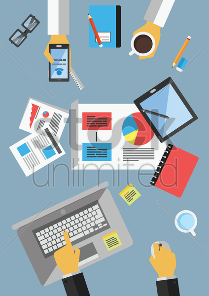 business people having discussion vector graphic
