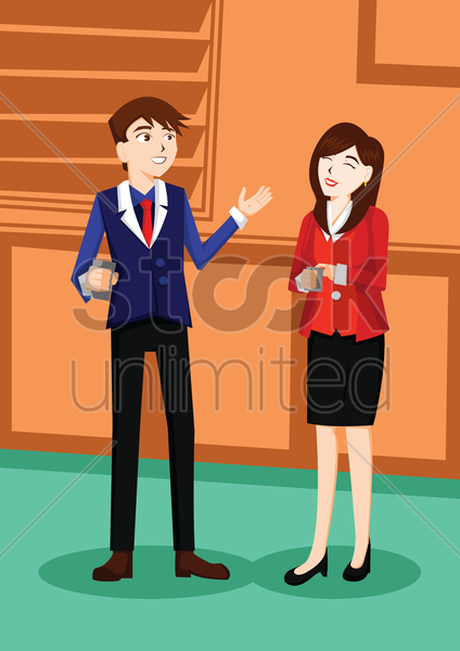 business people poster vector graphic