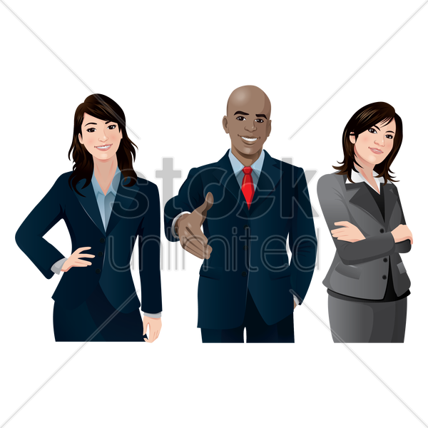 business people vector graphic