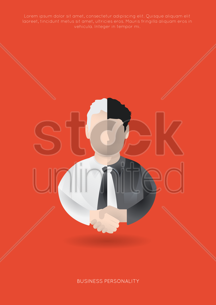 business personality poster vector graphic