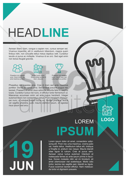 business poster vector graphic