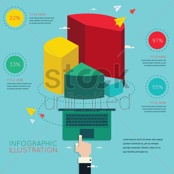 business presentation infographic vector graphic