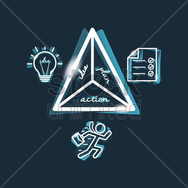 Free business strategy concept vector graphic