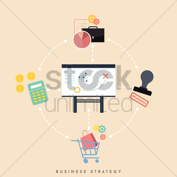 business strategy concept vector graphic