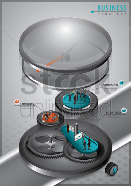 business strategy design vector graphic