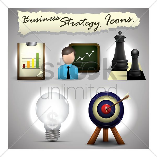 Free business strategy icons vector graphic