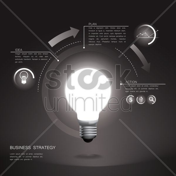 business strategy infographic vector graphic