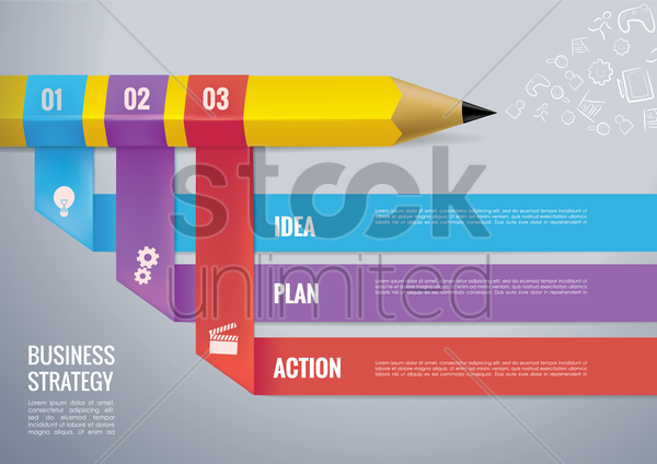 business strategy infography vector graphic