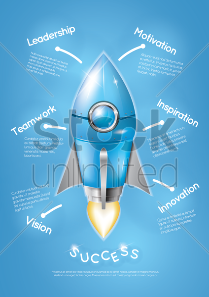 Free business strategy poster vector graphic