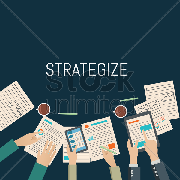 Free business strategy vector graphic