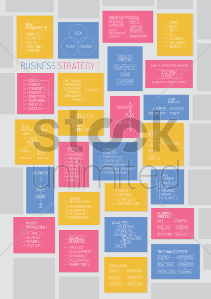 business strategy vector graphic