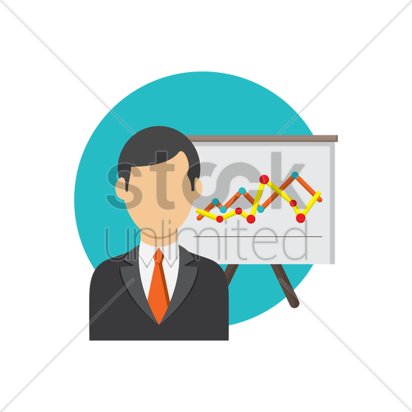 Free businessman and analysis vector graphic