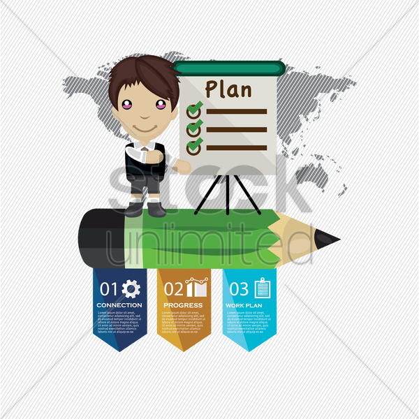 Free businessman giving presentation vector graphic