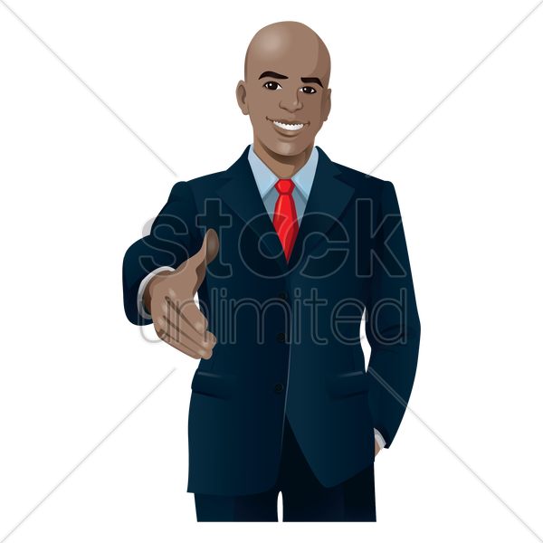 businessman offering to shake hands vector graphic