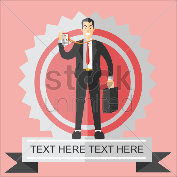 businessman showing identity vector graphic