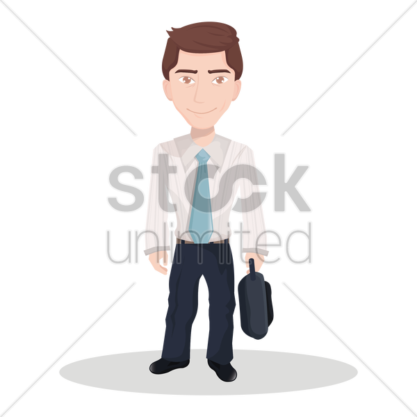 businessman with a briefcase vector graphic