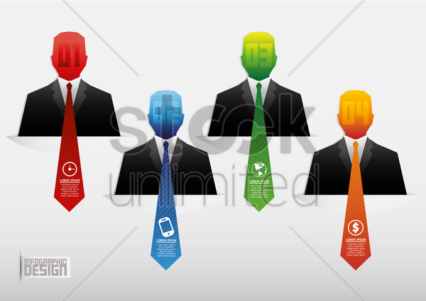 businessmen infographic vector graphic