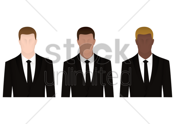 businessmen vector graphic