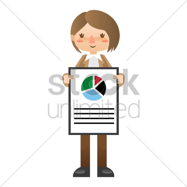 businesswoman giving presentation vector graphic