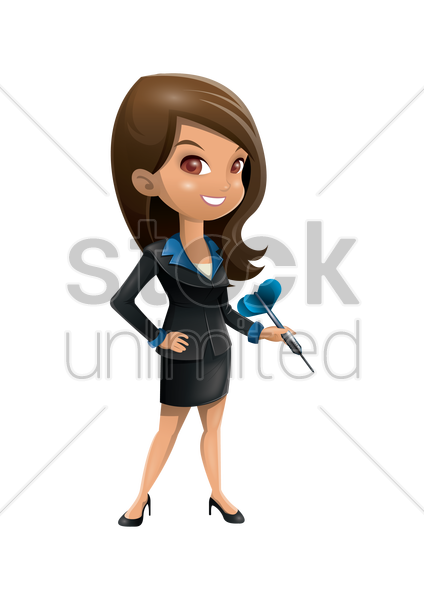 businesswoman holding dart vector graphic