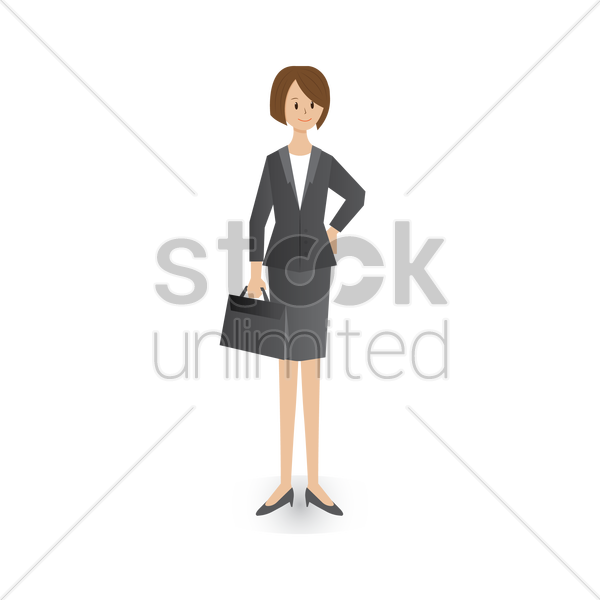 businesswoman with a briefcase vector graphic