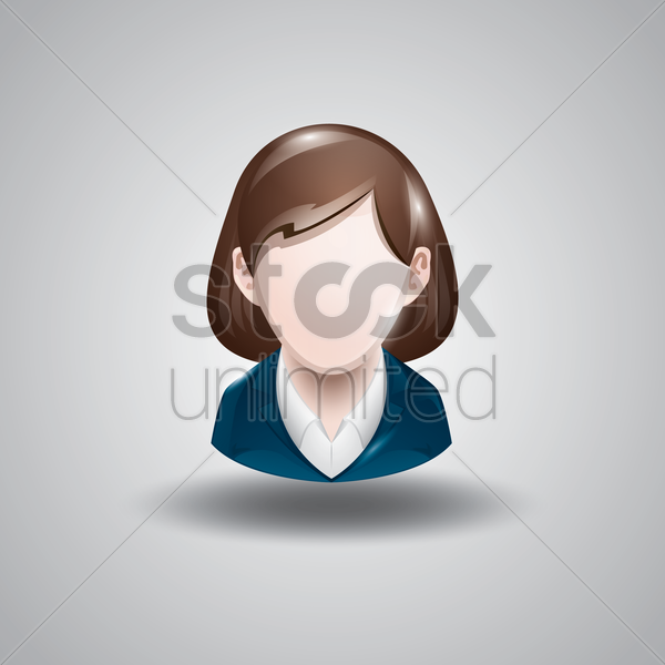 businesswoman vector graphic