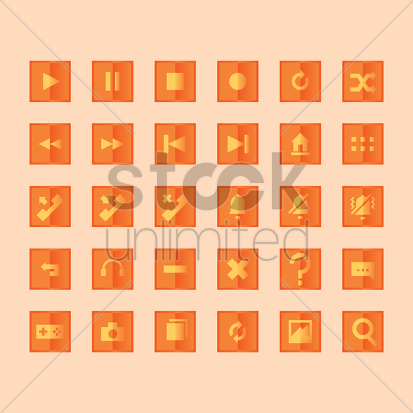 button icons vector graphic
