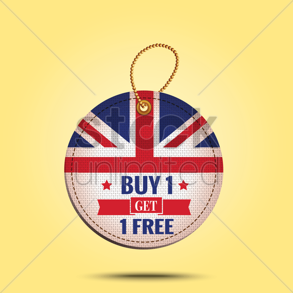 buy one get one offer tag vector graphic