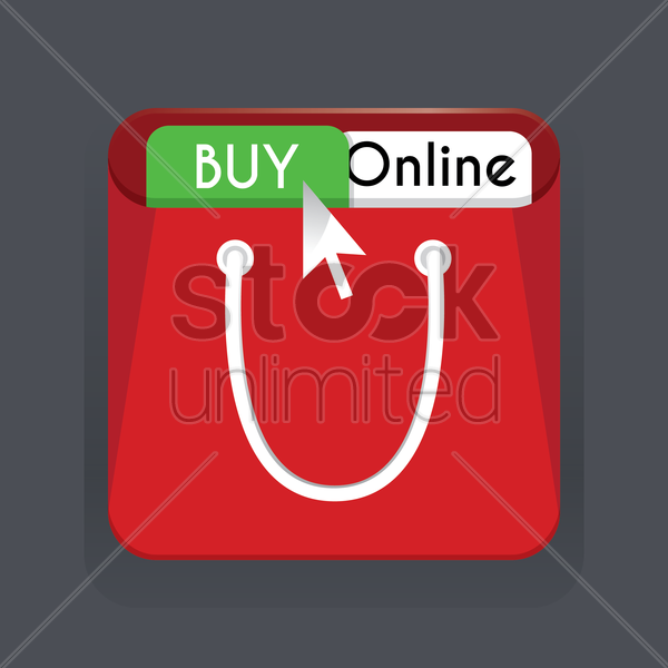 buy online icon vector graphic