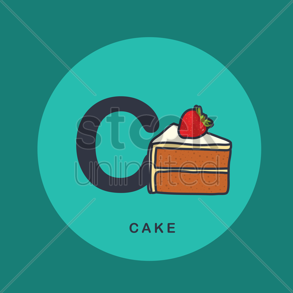 Free c for cake vector graphic