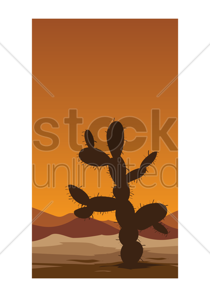 cactus plant wallpaper vector graphic