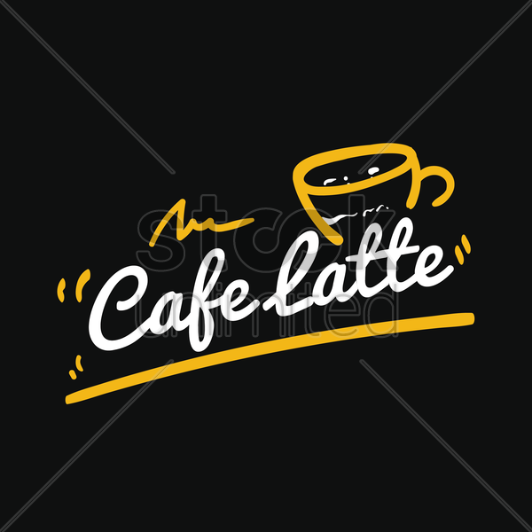 cafe latte vector graphic