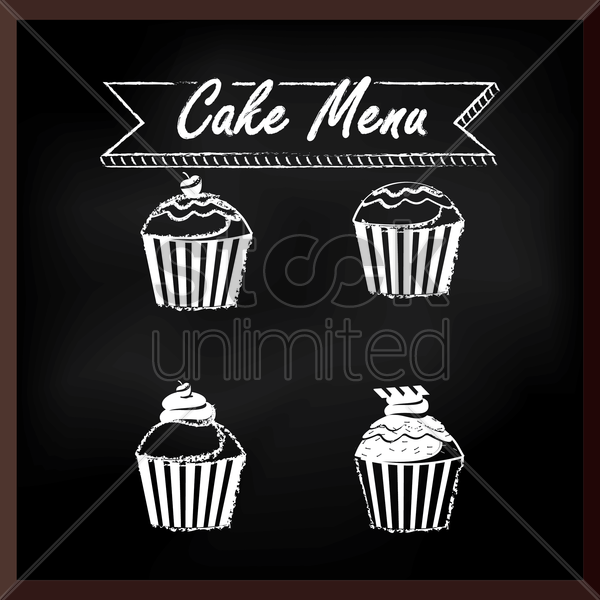 cake menu design vector graphic