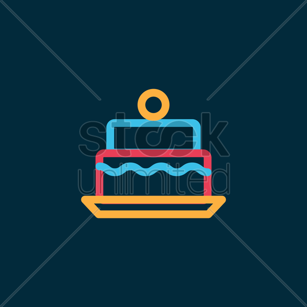 cake vector graphic