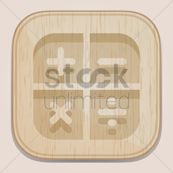 calculator button vector graphic