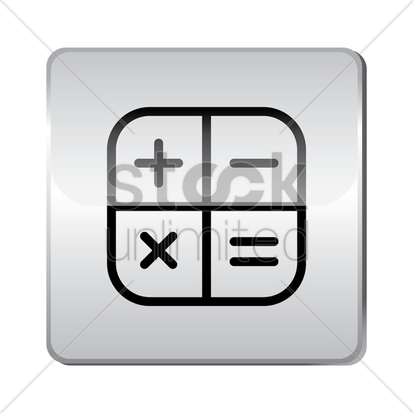 calculator icon vector graphic
