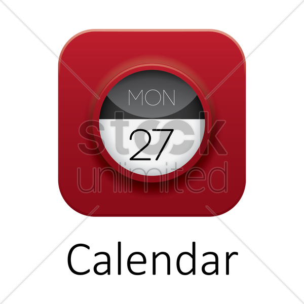 calendar icon vector graphic