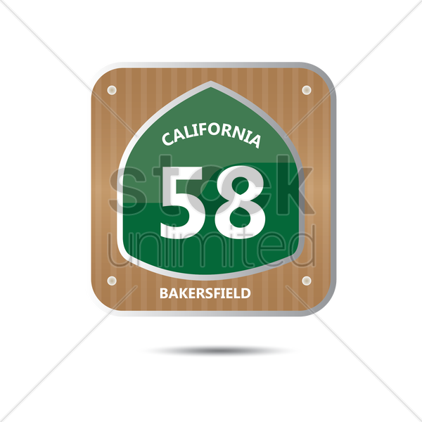 california route fifty eight road sign vector graphic