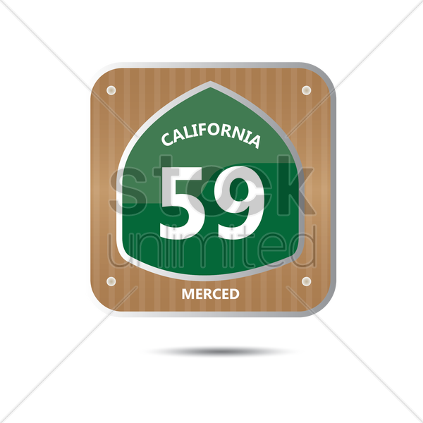 california route fifty nine road sign vector graphic